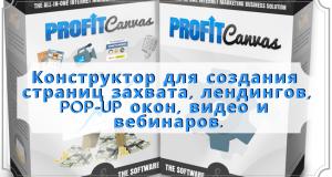 konstruktor profit kanvas